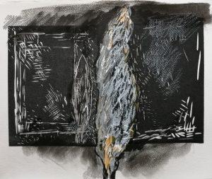 Danielle-Vidal-Ausseil-linoprint-serie-cypres-2019-Unicum-drawing-on-a-lino-cut-30x38cm-untitled