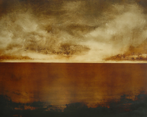 Helmut Feldmann 'Nordland II'Kupferdruckfarbe auf Karton