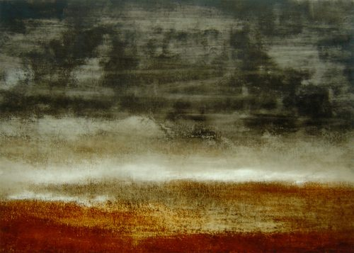 Helmut Feldmann 'Landschaft' 2012Kupfertiefdruckfarbe Karton