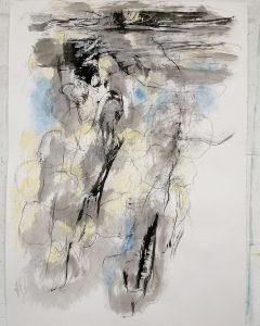 Danielle Vidal Ausseil artiste China ink and coloured pencils